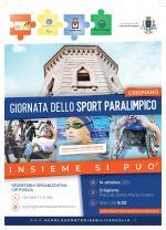 COMUNICATO STAMPA:  Giornata delle Sport Paralimpico – Insieme si può CRISPIANO 14 ottobre 2021